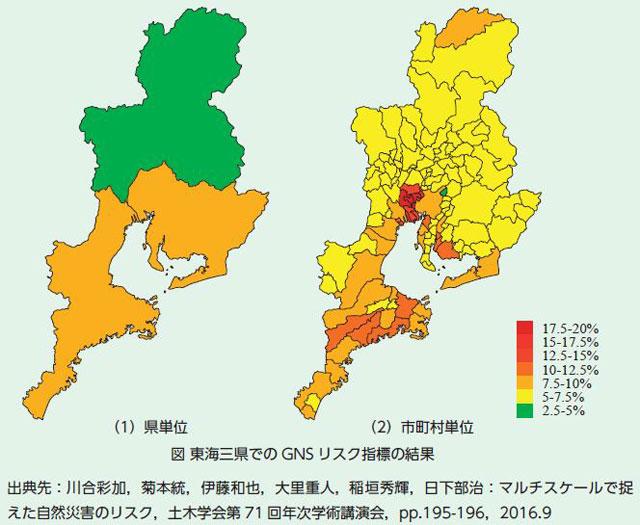 「東海3県でのGNSリスク指標の結果」より